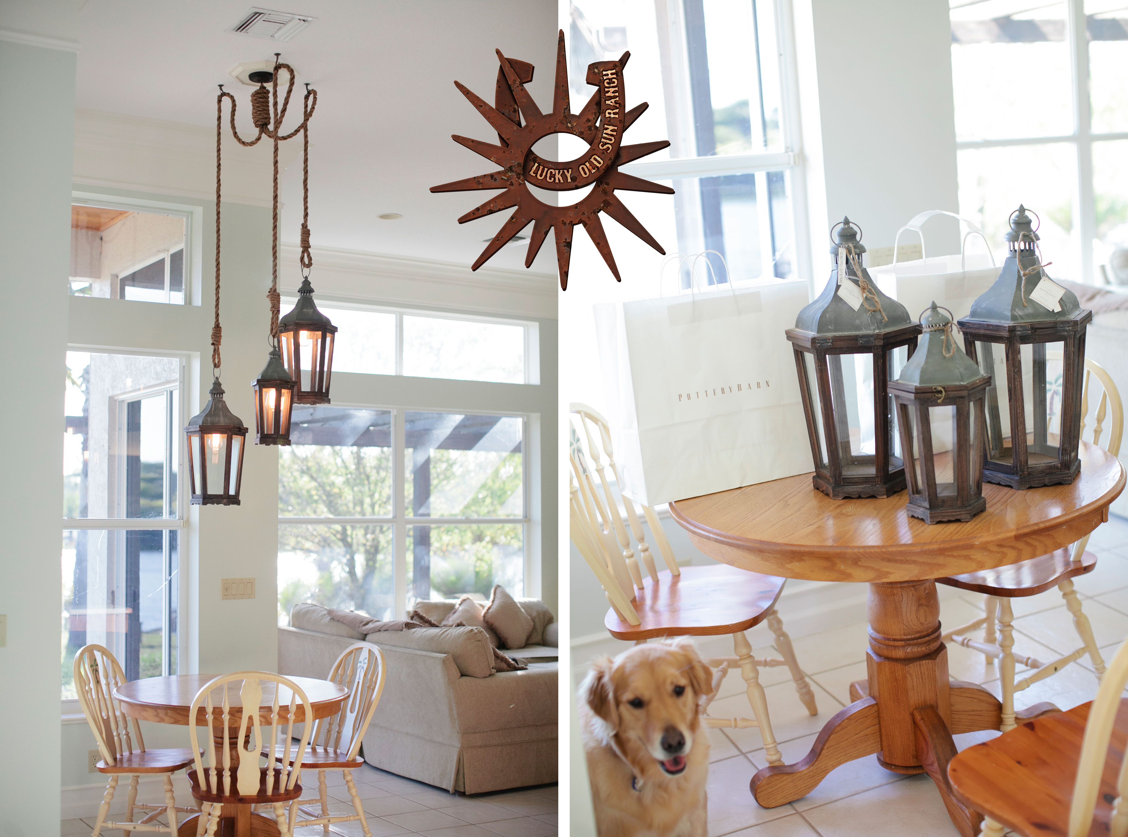 06 Mar Lantern And Rope Chandelier Pottery Barn